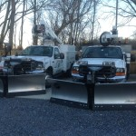 Here are a few of our snow plows ready and waiting.