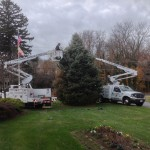 Decorating the town of Laytonsville Christmas tree